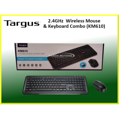 Targus KM610 Wireless Keyboard and Mouse Combo