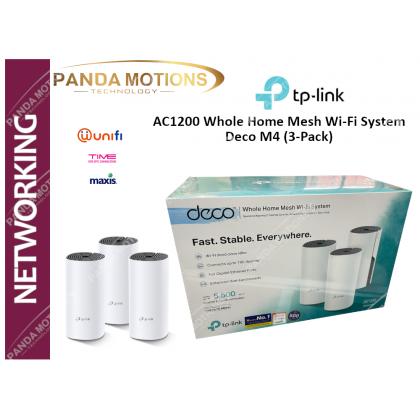 TP-Link AC1200 Whole Home Mesh Wi-Fi System Deco M4 (3-Pack)