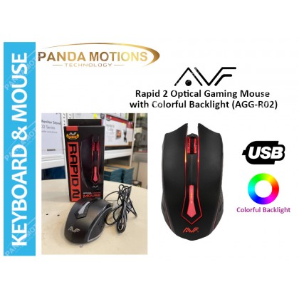 AVF Rapid 2 Optical Gaming Mouse with Colorful Backlight (AGG-R02)