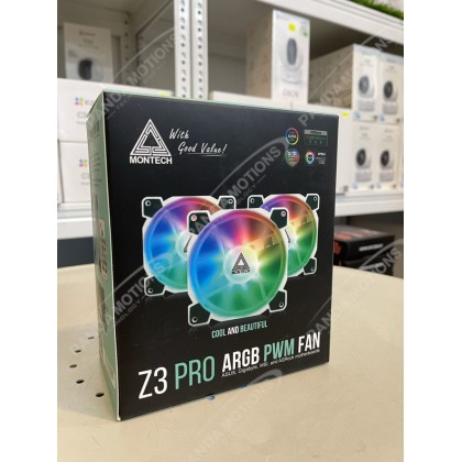 Montech Z3 Pro ARGB PWM Fan 3-in-1 Pack with Remote Controller