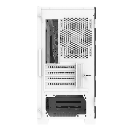 Montech Air 100 Lite All White M-ATX Tempered Glass Casing with 4 unit 120mm Silent Fan